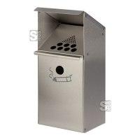Zigarettenascher -Cubo Gabino- 3,7 Liter zur Wand- oder Standbefestigung